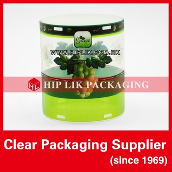 Clear Plastic Cylinder Packaging