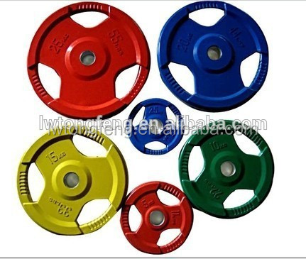 Colorful rubber weights bumper plate/ weight training/ weight lifting