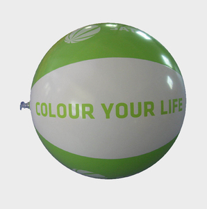 Factory eco-friendly custom logo printed inflatable beach ball