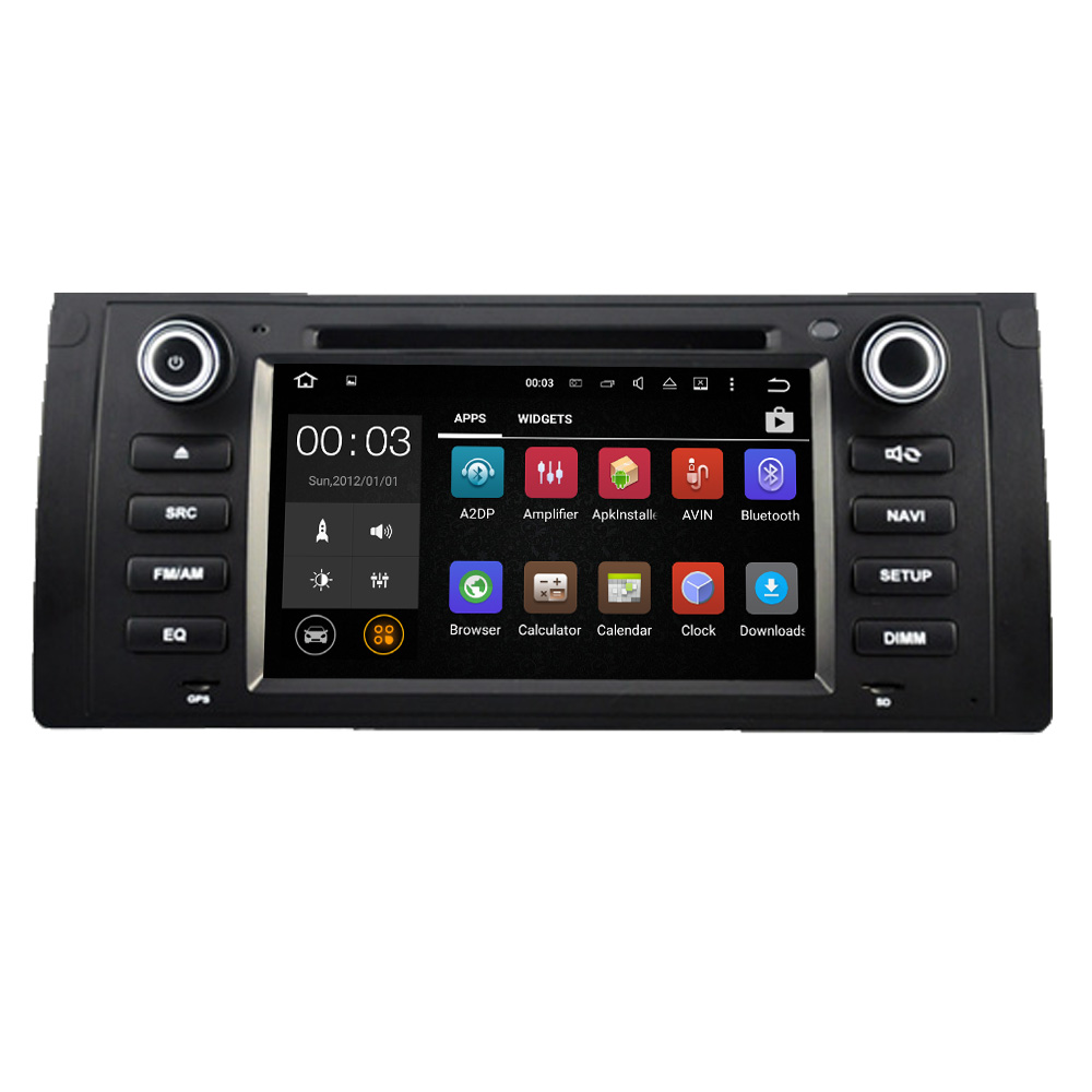 "7"" 1024*600 Quad core 1DIN Pure Android 5.1.1 Car DVD GPS Player for BMW E39 With WIFI Bluetooth Mirror-link Canbus SWC"