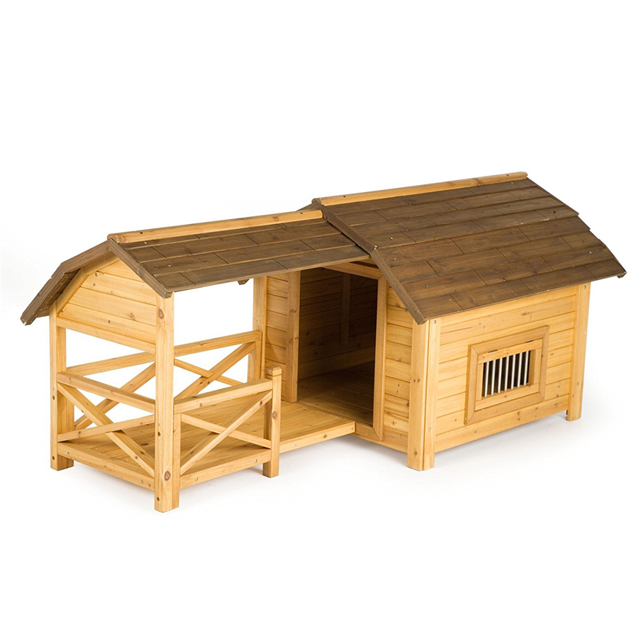 outside waterproof cheap customized wooden heavy duty dog kennel