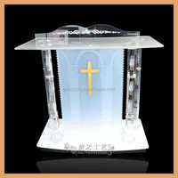 model podium plastic church pulpit acrylic podium lectern crystal church pulpit