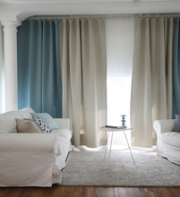 leisure style linen looking curtian for living room , ready curtain dubai curtain