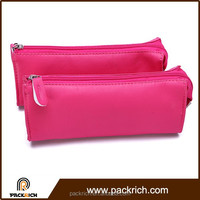 Hot selling fashionable polyester pink pu travel bag cosmetic