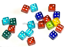 wholesale competitive price transparant 6 sides acrylic game dice