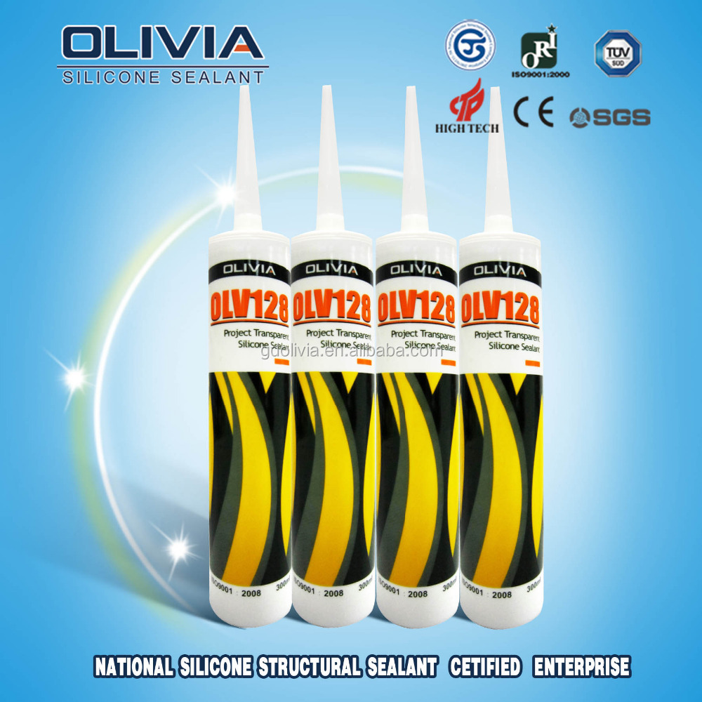 Glass aluminum Silicone Sealant/neutral transparent adhesive OLV128