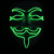 Party EL wire Vendetta mask and Fashion V Cosplay MASK Costume Guy Fawkes Anonymous mask