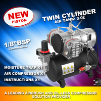 Double cylinder 1/6Hp Airbrush Compressor with tank AS-28A