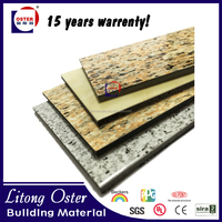 Oster 4mm aluminum composite panel marble/grantie colors acp flexible decoration plastic wall panels