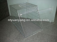 foldable wire dog cage sloping metal pet crate