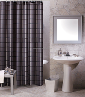 POLYESTER STRIPED BATHROOM SHOWER CURTAIN FROM CHINA