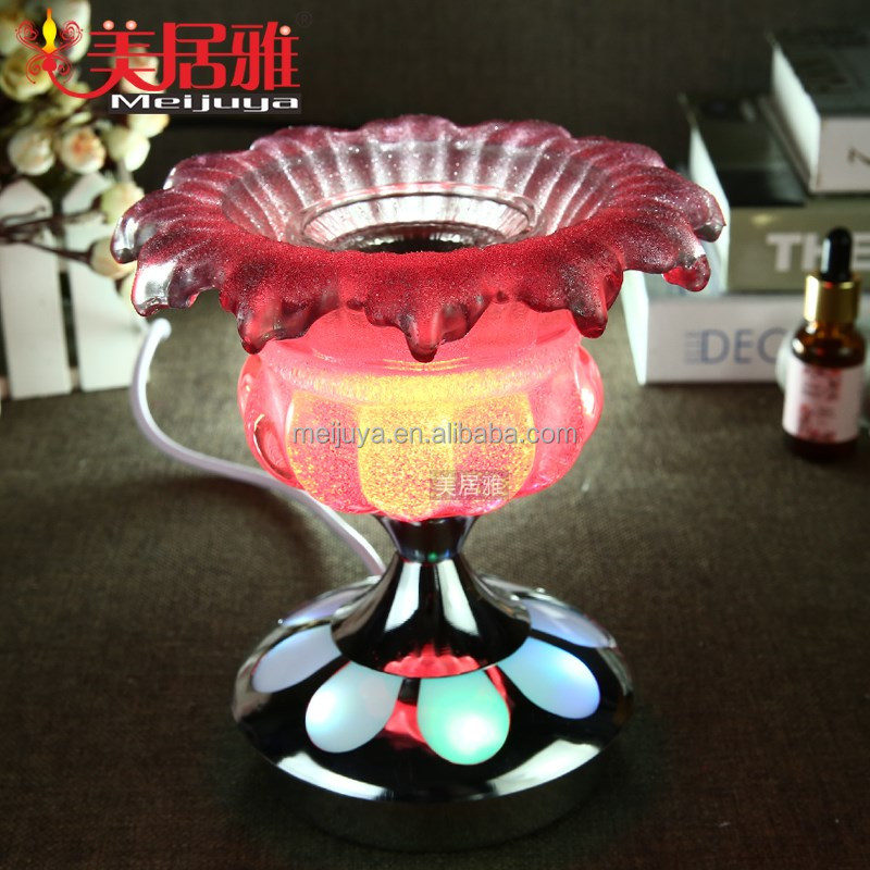 wholesale home electric glass LED colorful fragrance lamp oil burner oil warmer