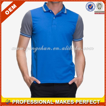 Men's contrast color OEM services polo shirts 2014 (YCP-C0105)