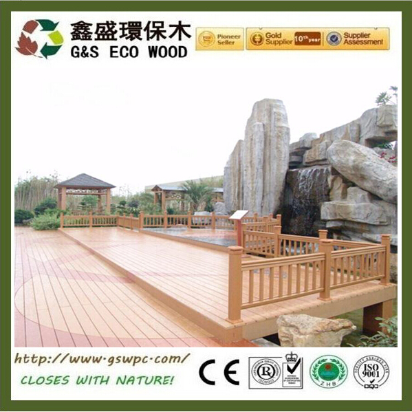Hot sales hollow wpc composite decking board for balcony