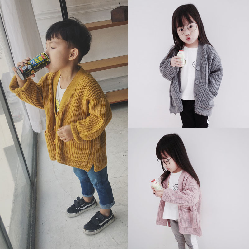 fashion Korean style boys and girls coat sweater children clothing kid winter sweater coat