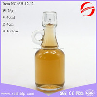 clear olive oil glass bottle with handle cooking oil bottle