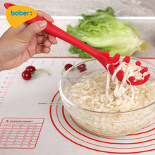 Factory Selling Cooking Utensil Silicone Pasta Spaghetti Server Fork Non-Stick Pasta Claw Spoon