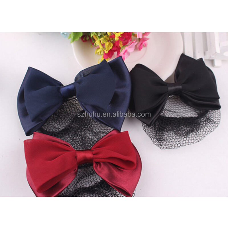3 Color Women Lady Fashion Bow Barrette <strong>Hair</strong> Clip Cover Hairpins Bowknot Bun Snood <strong>Hair</strong> Band <strong>Accessories</strong>