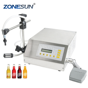 ZONESUN small mini manual milk water oil beer juice perfume used glass scale plastic bottle washing filling machine price supply