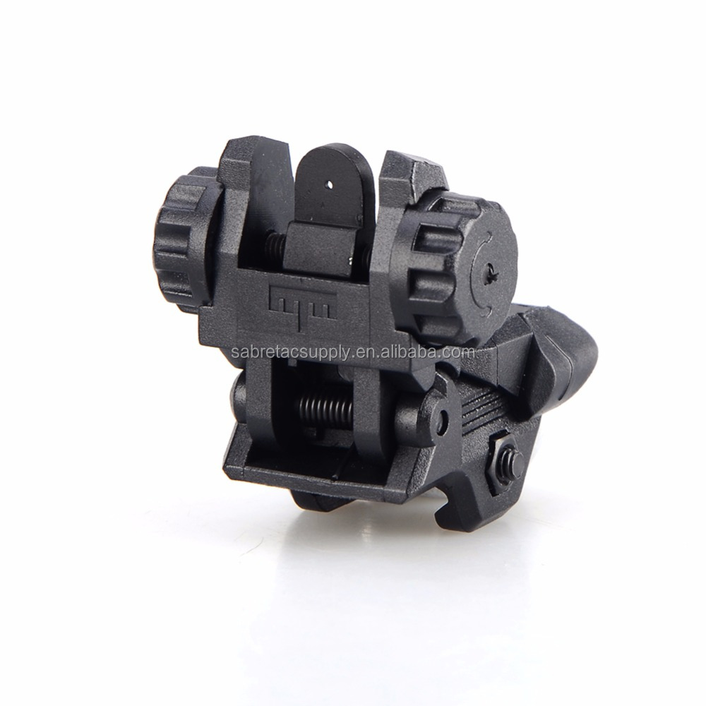 Ar15 Parts Low Profile Spring Loaded Polymer Flip Up Front & Rear Ar Sights