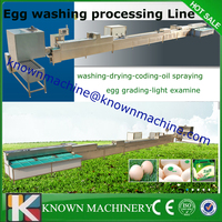 Automatic Fresh chicken egg cleaning washing machine