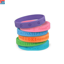 2017 new promotional gift cheap silicone wristbands with dog paw prints logo