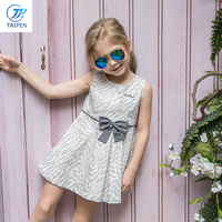 New Arrival Kids Sleeveless Princess Frock Designs Party Dresses Girls Summer Dress With A Bow