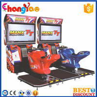 Funny Arcade Game Machine TT Moto Motorcycle Attractive Players