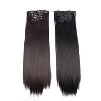 "AliLeader Best Quality 16 Colors 22"" Synthetic Silky Straight Clip Hair Extensions"