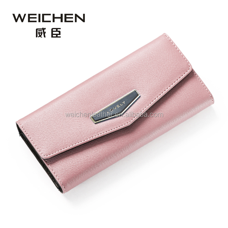 LONG STYLE BOCKING PU LEATHER LADY PURSE zipper coin purse