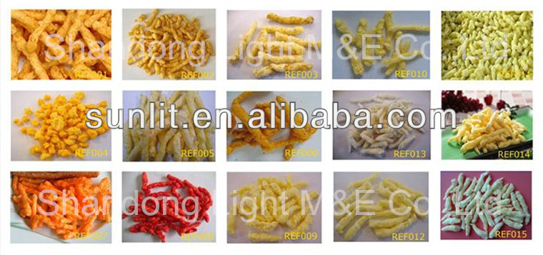 Fried or Baked Kurkure/Cheese curls/Cheeto Processing Machine