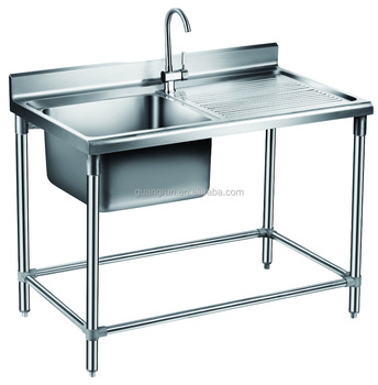 Free-standing Commercial Stainless Steel Kitchen Sink GR-303B, View food  containers restaurant, Guangrun Product Details from Ningbo Guangrun  Kitchen ...