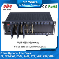 Bulk SMS voip gsm gateway! goip 96 ports gsm gateways with free registration, voip machine