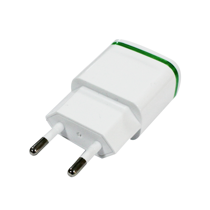 High Quality EU Plug 5V 2.1/1A Dual USB AC USB Charger Wall Power Adapter for ipad iPhone Samsung Cell Phones