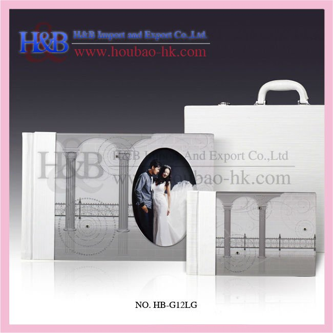 H&B elegant a3a4 grey painitng photo albums pvc