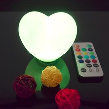 Battery Powered LED Wedding Backstage Sweet heart Lamp Wedding Gift with remote controlled