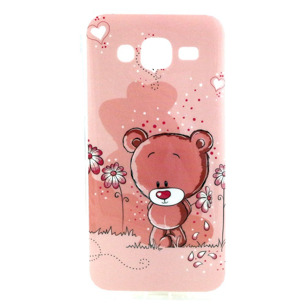 New Tpu Cover for Samsung Galaxy J5 Soft Case Ultra-thin pink bear phone Cases Phone Cover Cartoon Rilakkuma Skin flip Pouch