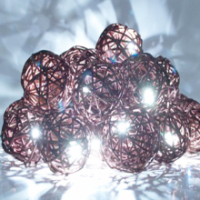 Hot sale decorative solar garden light,christmas outdoor led rattan ball string light
