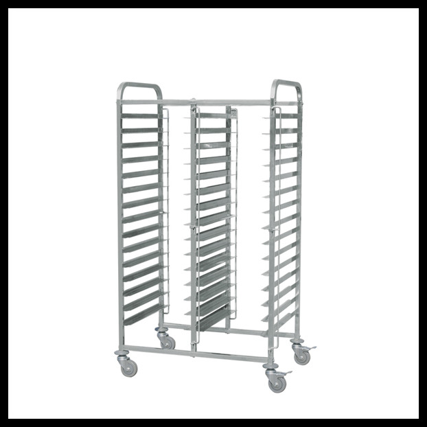 Customize stainless steel / aluminium bakery trolley tray rack cart