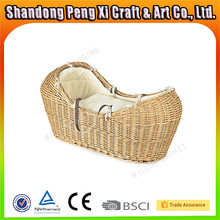 Wholesale fabric lined wicker baby moses basket