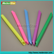 Medical Suppliers Disposable Dental Evacuator Tips / Dental Suction tubes with Rainbow colors DMH05