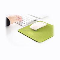 simple style green color felt mouse mat mouse pad