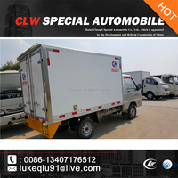 4x2 2 axles 5 tons mini refrigerated van truck for food delivery transportation