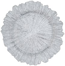 PZ00340 factory wholesale wedding antique 13 &quot;reef gold silver glass charger <strong>plate</strong>