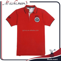 fading brand red contrast collar mens polo shirt apparel