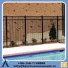 Cheap wrought iron pool fence panels for sale/swimming pool Fence panels square tube/Galvanized steel pipe fence