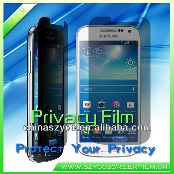 Factory Price Anti-spy Screen Film Protector For Samsung Galaxy S4 mini Accept PayPal