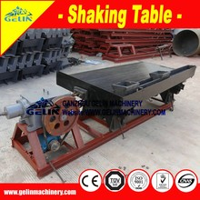 Tin/gold/copper concentrate shaking table