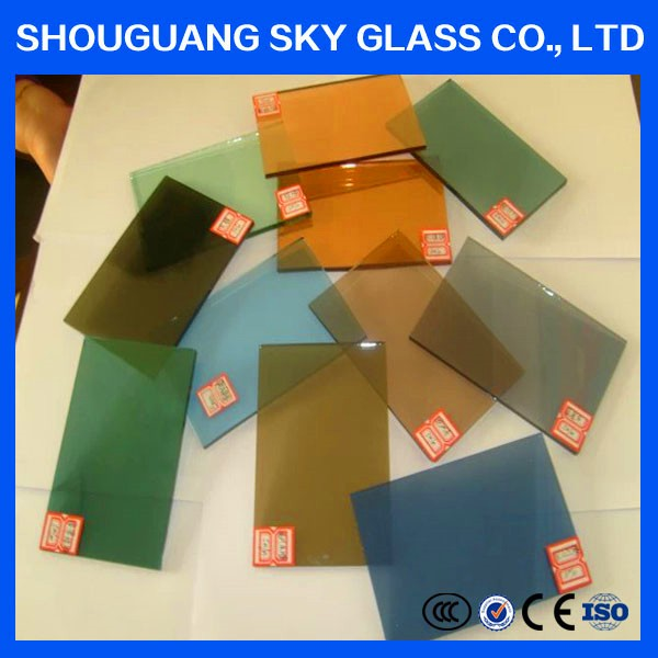 3mm-12mm Brown / Gray / Blue / Green / Black Colors Tinted Glass Sheet Price