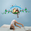 ZOOYOO kids room wall stickers sweet dream monkey decorative decal baby nusery wall sticker(ZY1203)
